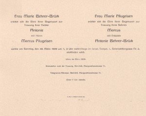 Pflugeisen invitation copy