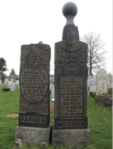 Abraham and Sarah headstones
